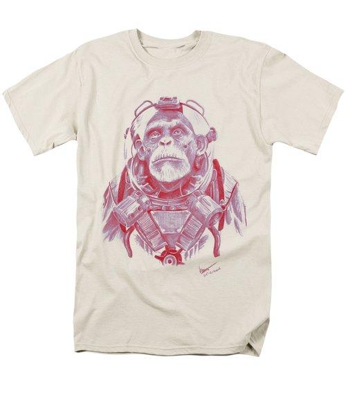 Space Chimp Men's T-Shirt  (Regular Fit) by Kenny Noorlander