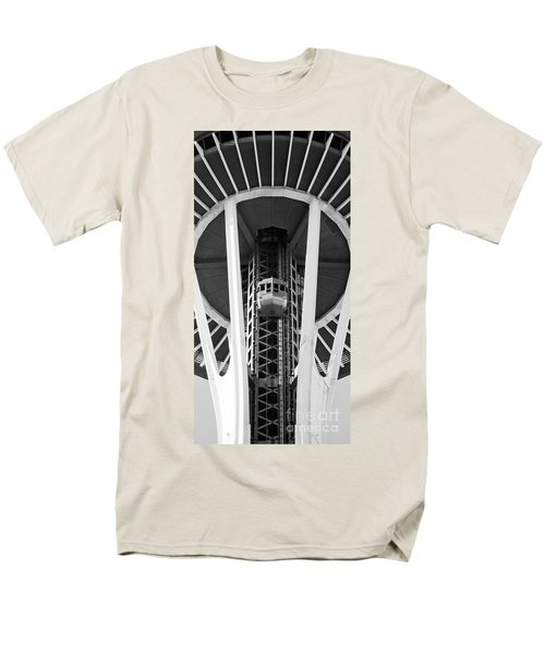 Men's T-Shirt  (Regular Fit) featuring the photograph Space Needle Seattle by Chris Dutton