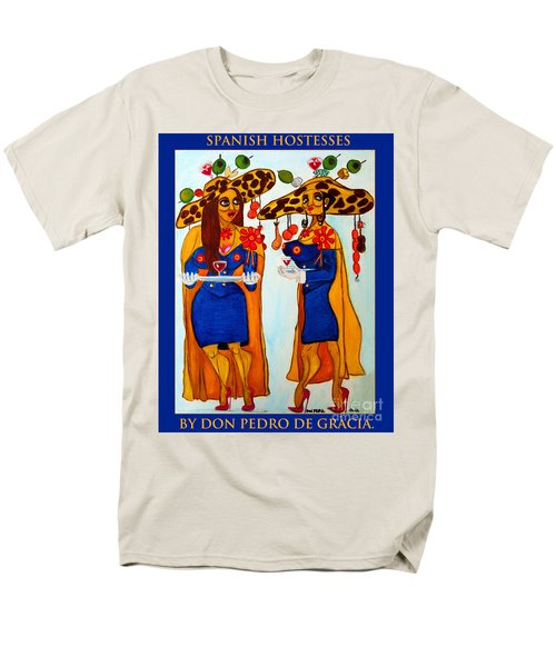 Men's T-Shirt  (Regular Fit) featuring the painting Spanish Hostesses. by Don Pedro De Gracia