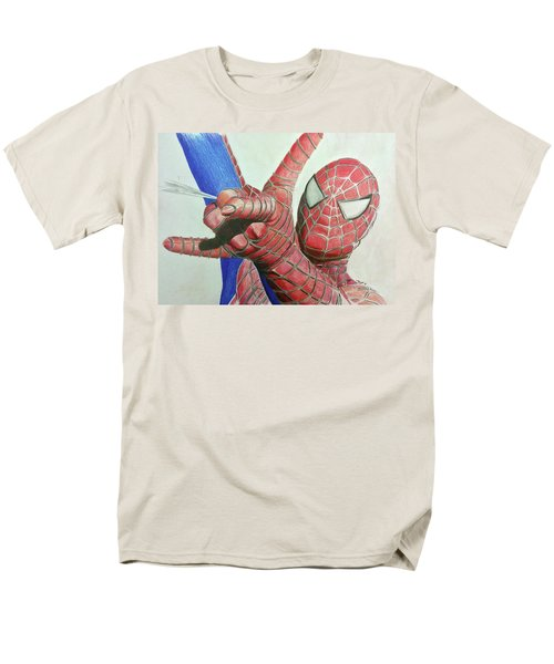 Men's T-Shirt  (Regular Fit) featuring the drawing Spiderman by Michael McKenzie