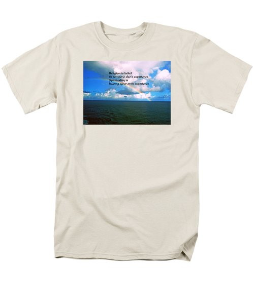 Spiritual Belief Men's T-Shirt  (Regular Fit) by Gary Wonning