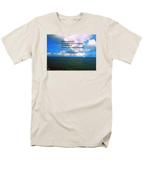 Men's T-Shirt  (Regular Fit) featuring the photograph Spiritual Belief by Gary Wonning