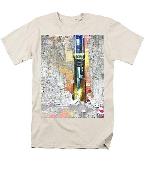 Men's T-Shirt  (Regular Fit) featuring the mixed media Split by Tony Rubino