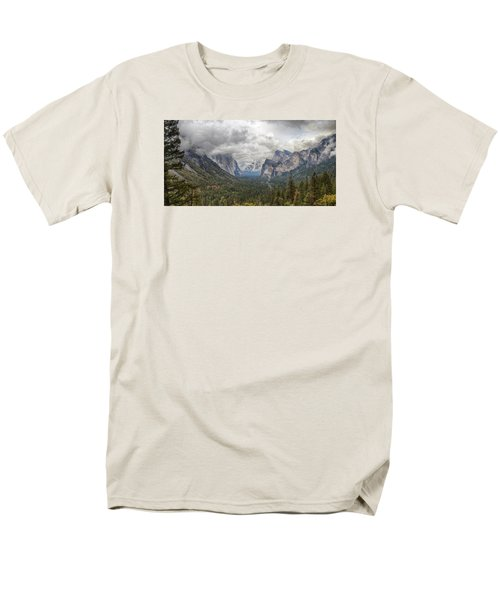 Men's T-Shirt  (Regular Fit) featuring the photograph Spring Storm Yosemite by Harold Rau