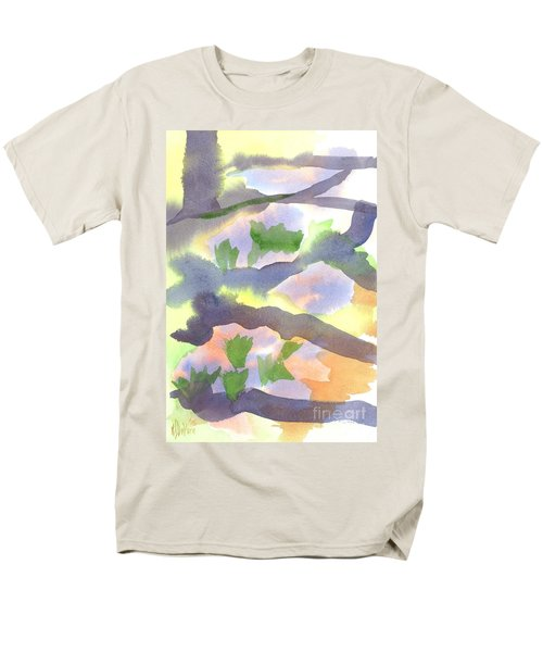 Springtime Wildflower Camouflage  Men's T-Shirt  (Regular Fit) by Kip DeVore