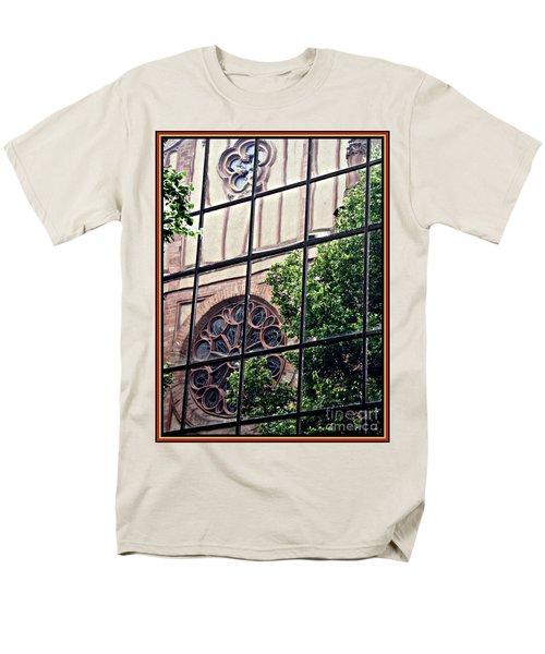 St Boniface Church In Reflection  Men's T-Shirt  (Regular Fit) by Sarah Loft