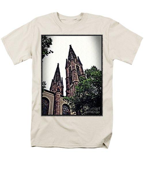 St Boniface Church Towers   Men's T-Shirt  (Regular Fit) by Sarah Loft