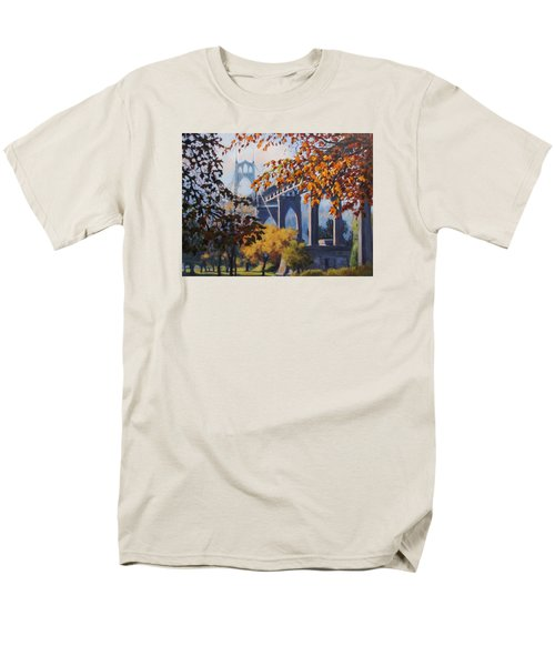 Men's T-Shirt  (Regular Fit) featuring the painting St Johns Autumn by Karen Ilari