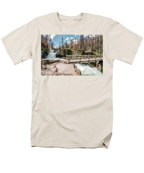 St. Mary Falls With Bridge Men's T-Shirt  (Regular Fit)