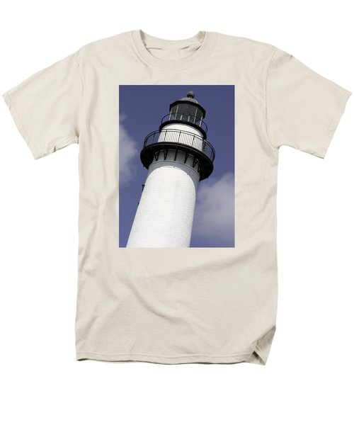 St Simons Island Lighthouse Men's T-Shirt  (Regular Fit) by Elizabeth Eldridge