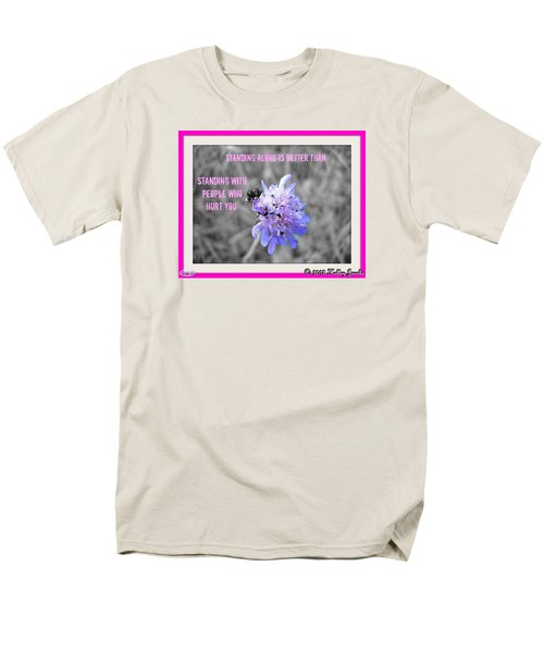 Men's T-Shirt  (Regular Fit) featuring the digital art Standing Alone by Holley Jacobs