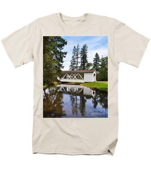 Stayton-jordon Covered Bridge Men's T-Shirt  (Regular Fit) by Ansel Price