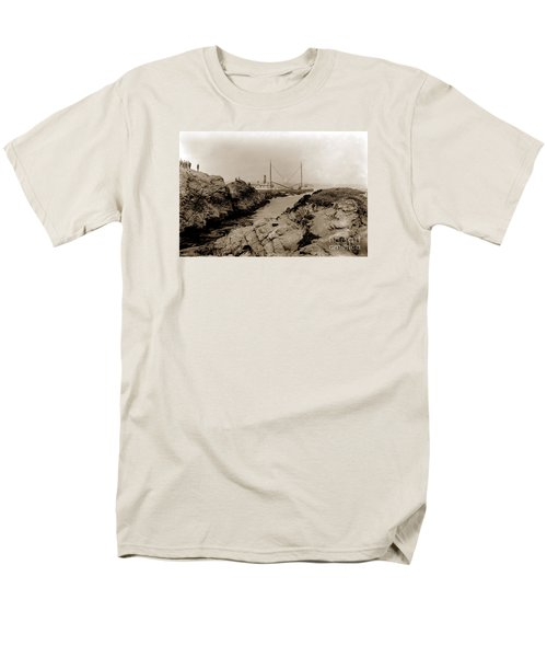 Steam Schooner S S J. B. Stetson, Ran Aground At Cypress Point, Sep. 1934 Men's T-Shirt  (Regular Fit) by California Views Mr Pat Hathaway Archives