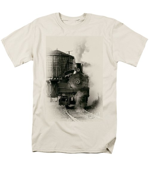 Steam Train Men's T-Shirt  (Regular Fit) by Jerry Fornarotto