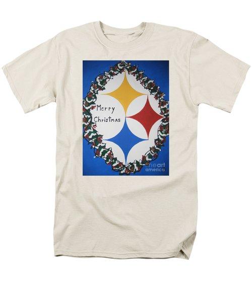 Steelers Christmas Card Men's T-Shirt  (Regular Fit)