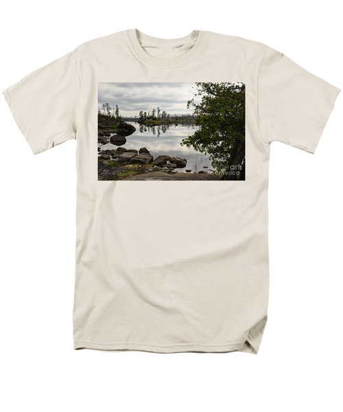 Men's T-Shirt  (Regular Fit) featuring the photograph Steely Day by Larry Ricker
