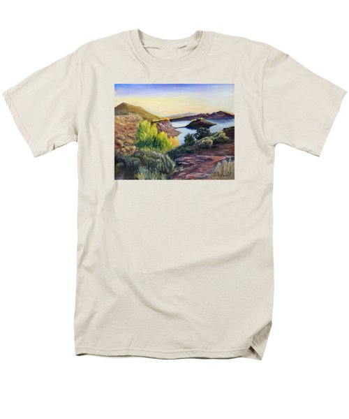 Men's T-Shirt  (Regular Fit) featuring the painting Steinaker by Sherril Porter