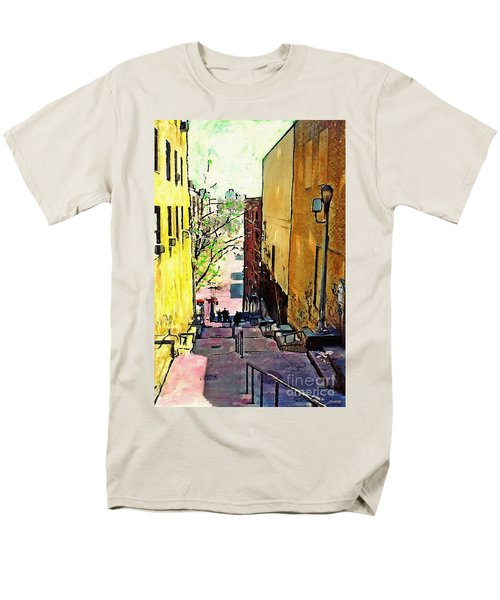 Steps At 187 Street Men's T-Shirt  (Regular Fit) by Sarah Loft