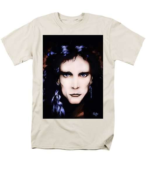 Men's T-Shirt  (Regular Fit) featuring the painting Steve Vai by Curtiss Shaffer
