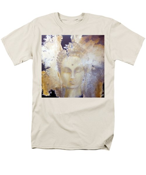 Men's T-Shirt  (Regular Fit) featuring the painting Stone Buddha by Dina Dargo