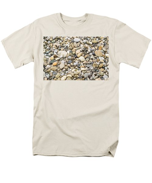 Men's T-Shirt  (Regular Fit) featuring the photograph Stone Pebbles Patterns by John Williams