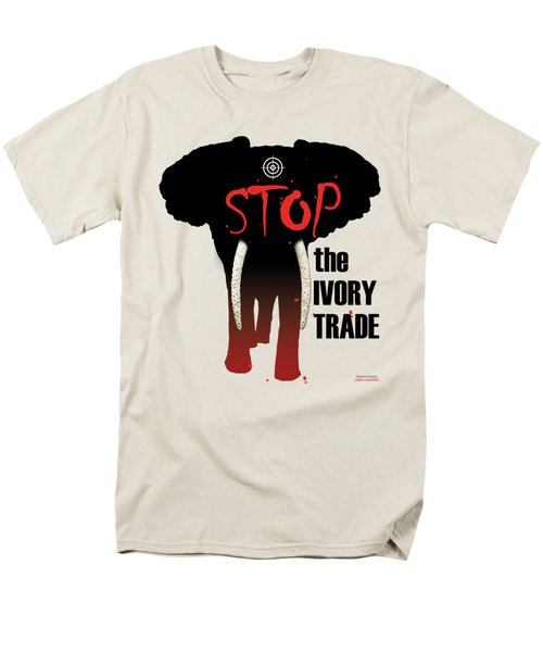 Stop The Ivory Trade Men's T-Shirt  (Regular Fit) by Galen Hazelhofer