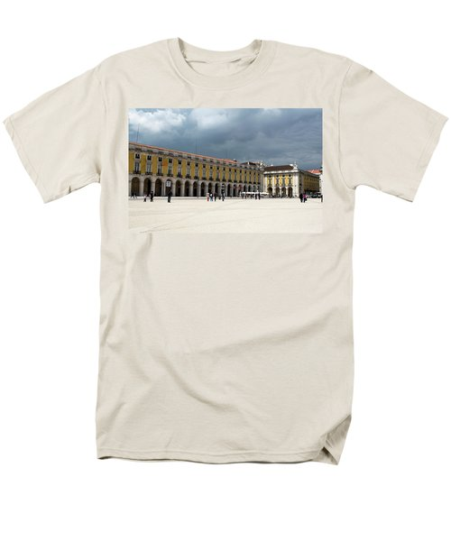 Men's T-Shirt  (Regular Fit) featuring the photograph Storm Brews Over Commerce Square by Lorraine Devon Wilke