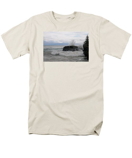 Men's T-Shirt  (Regular Fit) featuring the photograph Stormy Morning On Superior by Sandra Updyke