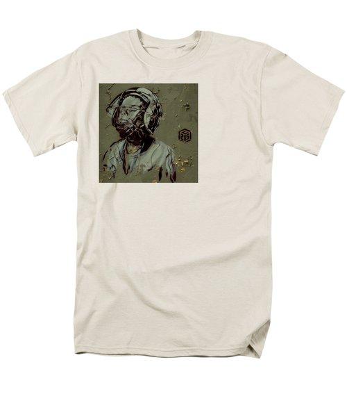 Wheat Paste Art Abstract  Men's T-Shirt  (Regular Fit) by Sheila Mcdonald