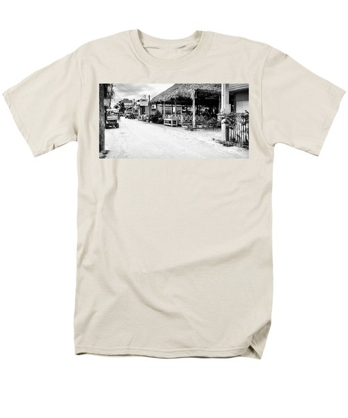 Men's T-Shirt  (Regular Fit) featuring the photograph Street Scene On Caye Caulker by Lawrence Burry