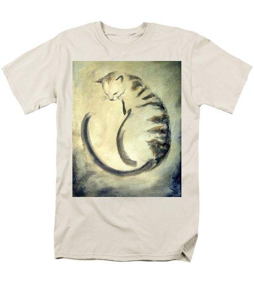 Stripey Cat 1  Men's T-Shirt  (Regular Fit) by Dina Dargo