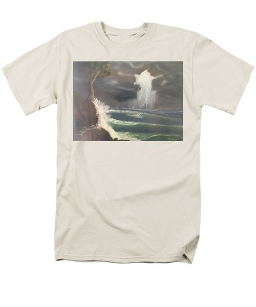 Strong Against The Storm Men's T-Shirt  (Regular Fit) by Thomas Janos