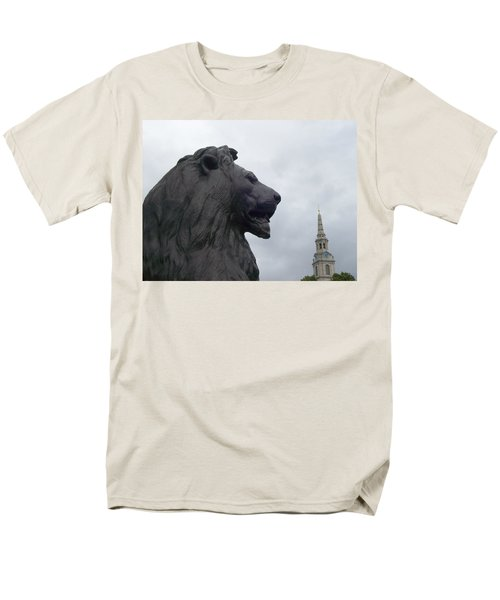 Strong Lion Men's T-Shirt  (Regular Fit) by Mary Mikawoz