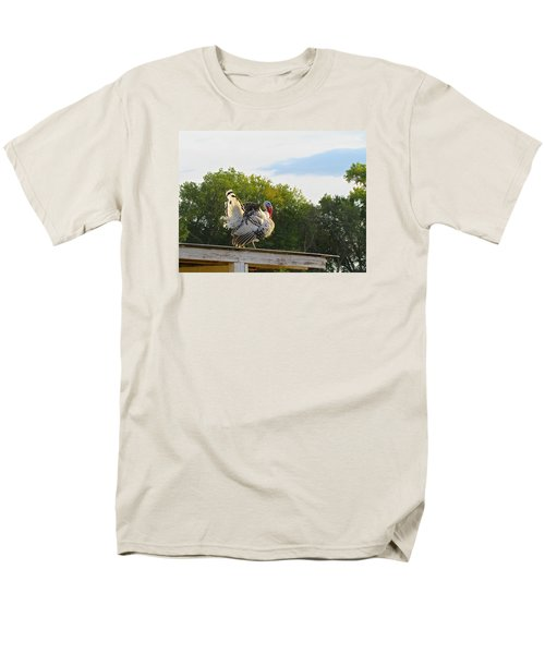 Men's T-Shirt  (Regular Fit) featuring the photograph Strutting His Stuff by Brenda Pressnall