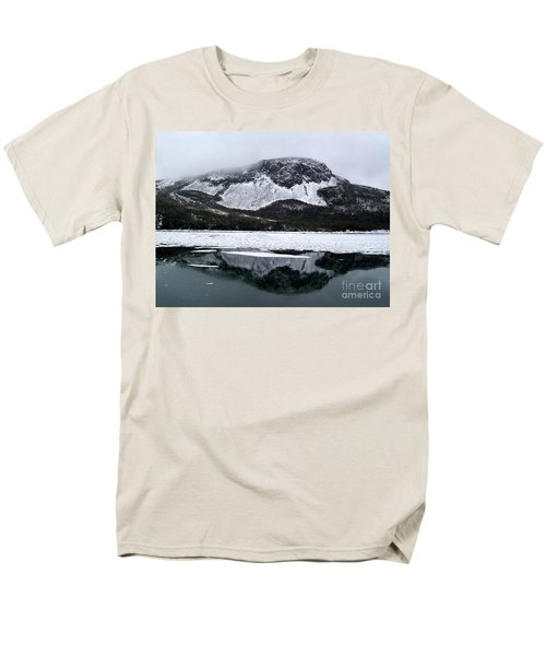 Sugarloaf Hill Reflections In Winter Men's T-Shirt  (Regular Fit) by Barbara Griffin