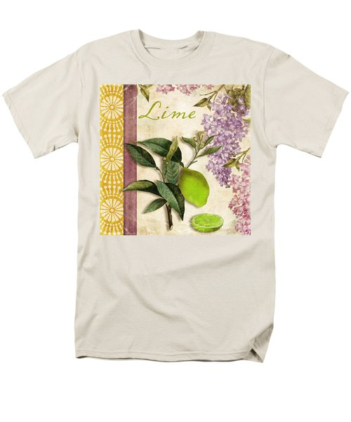 Summer Citrus Lime Men's T-Shirt  (Regular Fit) by Mindy Sommers