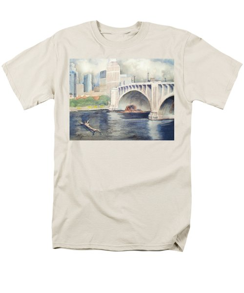 Men's T-Shirt  (Regular Fit) featuring the painting Summer Rain by Marilyn Jacobson