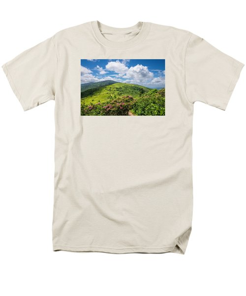Men's T-Shirt  (Regular Fit) featuring the photograph Summer Roan Mountain Bloom by Serge Skiba