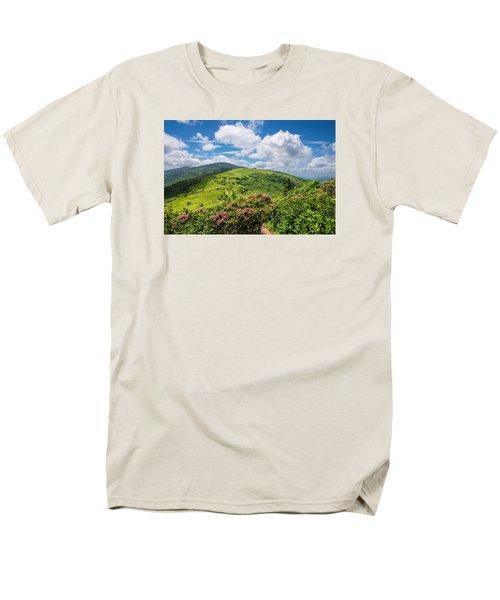 Summer Roan Mountain Bloom Men's T-Shirt  (Regular Fit) by Serge Skiba
