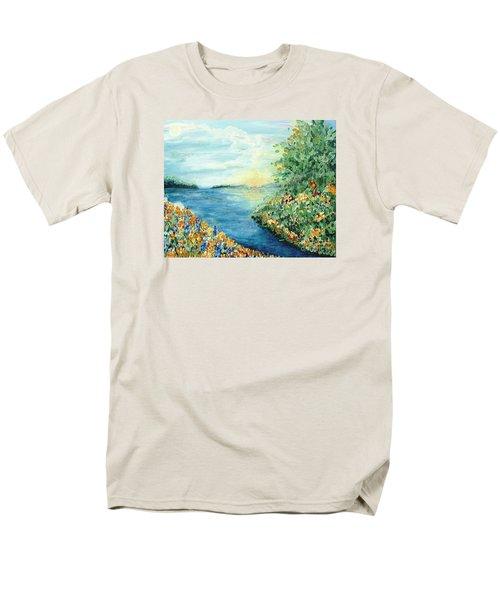 Sun And Moon Men's T-Shirt  (Regular Fit)