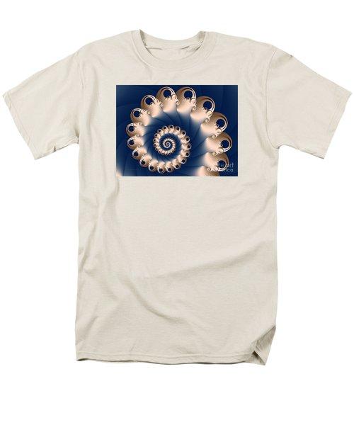 Men's T-Shirt  (Regular Fit) featuring the digital art Sunday Spiral by Karin Kuhlmann