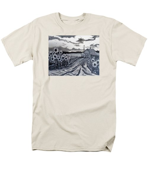 Men's T-Shirt  (Regular Fit) featuring the painting Sunflower Farm by Kevin F Heuman
