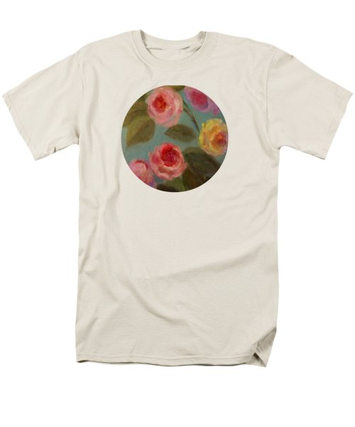Sunlit Roses Men's T-Shirt  (Regular Fit) by Mary Wolf