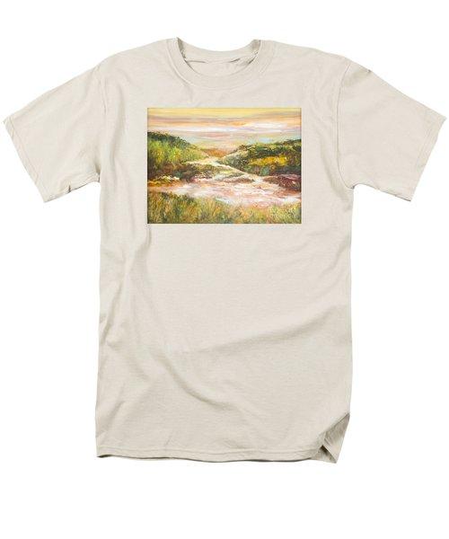 Sunlit Stream Men's T-Shirt  (Regular Fit) by Glory Wood