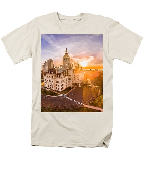 Sunrise In Hartford Connecticut Men's T-Shirt  (Regular Fit) by Petr Hejl