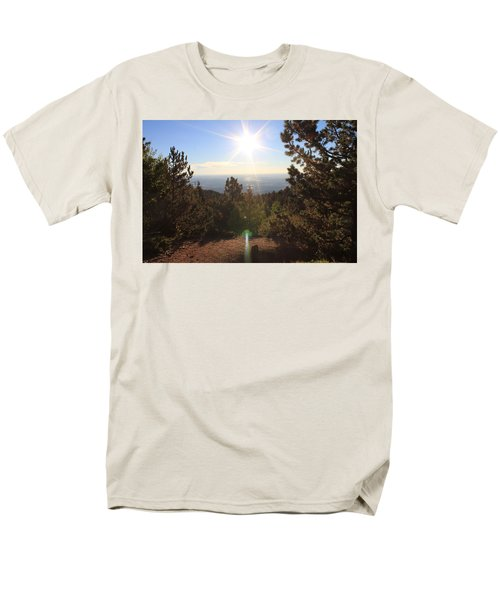 Sunrise Over Colorado Springs Men's T-Shirt  (Regular Fit) by Christin Brodie