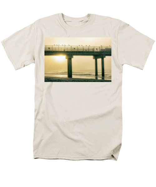 Men's T-Shirt  (Regular Fit) featuring the photograph Sunrise Pier In Alabama  by John McGraw