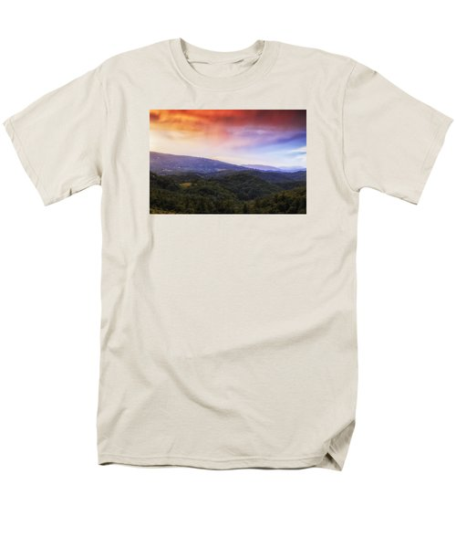 Men's T-Shirt  (Regular Fit) featuring the photograph Sunset View Of The Blue Ridge by Andrew Soundarajan