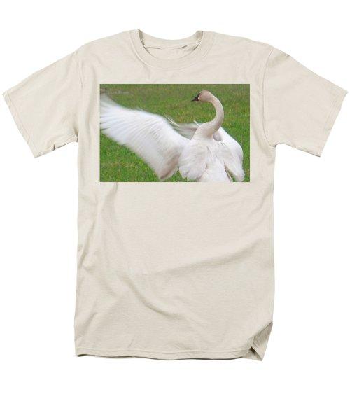 Swan Posing Men's T-Shirt  (Regular Fit) by Karen Molenaar Terrell