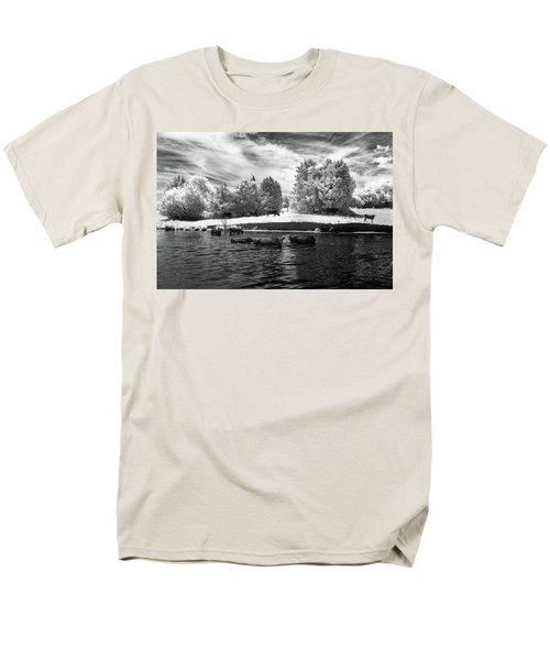 Swimming With Cows II Men's T-Shirt  (Regular Fit) by Paul Seymour